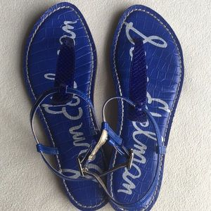 "Sam Edelman Shoes - Sam Edelman ""Gigi"" blue thong flat sandals sz 7"